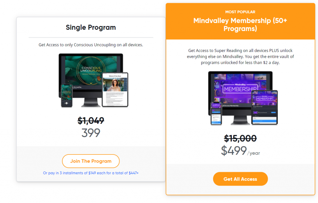 MindValley Pricing