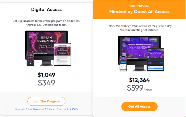 Becoming Limitless Review- Mindvalley Pricing Plan