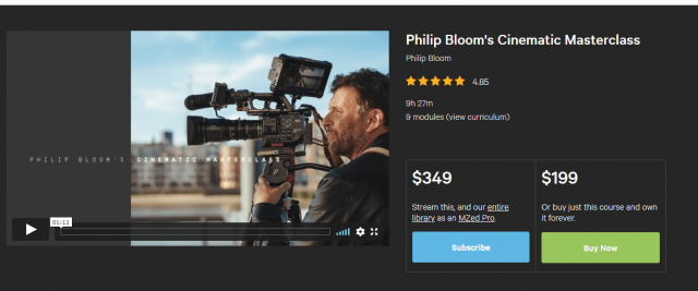 Philip Bloom's Cinematic MasterClass