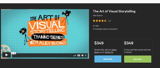 The Art Of Visual Storytelling By Alex Buono