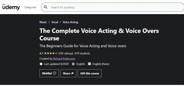 The Complete Voice Acting and Voiceover Course
