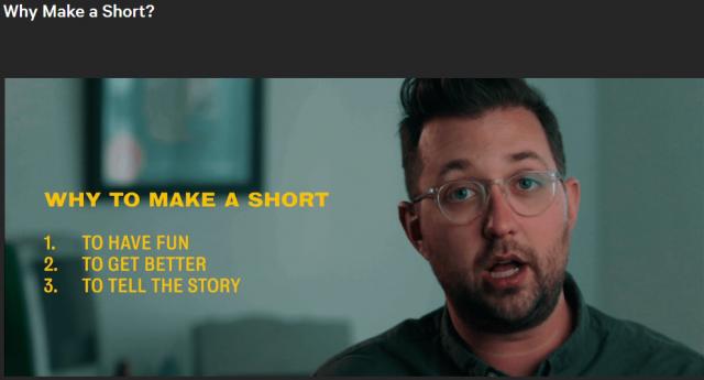 Lessons Of Short Films 101