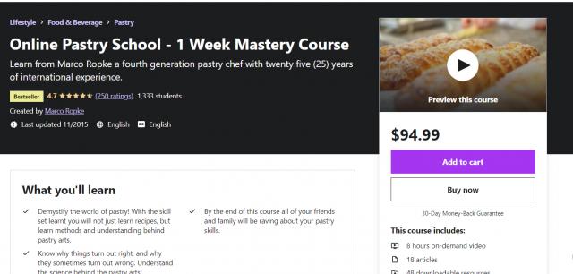 Online Pastry School