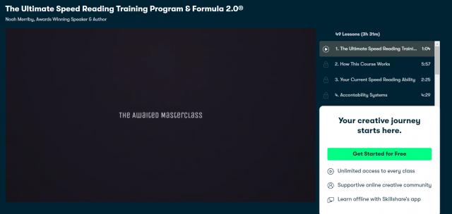 The Ultimate Speed Reading Training Program