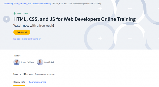 HTML, CSS, and JS for Web Developers